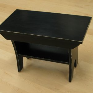 2521-24 Maple Country Bench distressed black paint finish