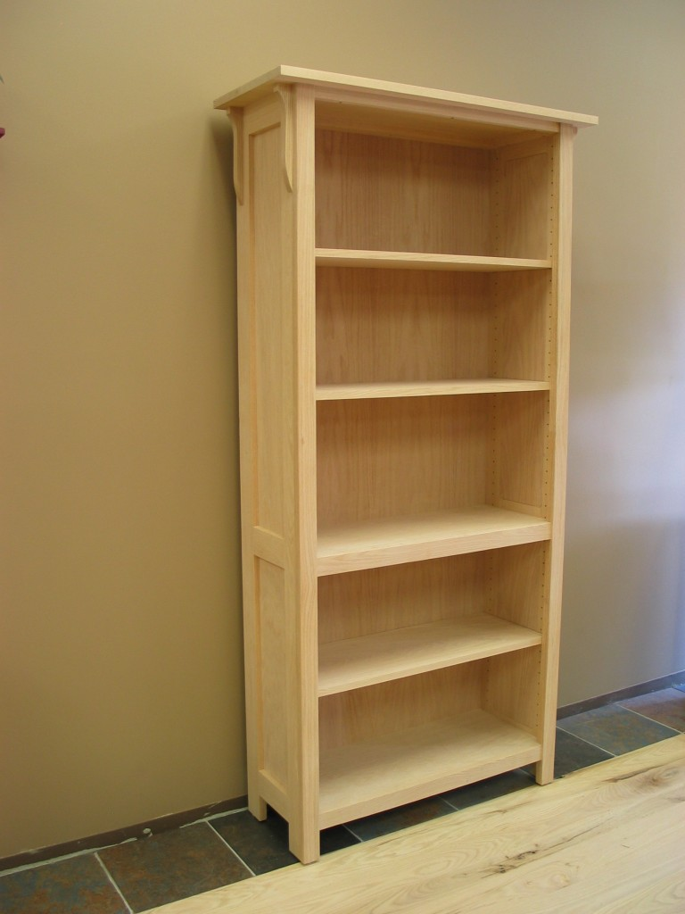 Red Oak Mission Bookcase Unfinished 30-3672-13
