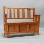 3020-44 Oak Mission Deep Storage Bench Ipswich Pine Stain