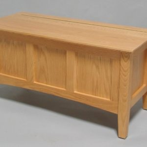 3124-36 Oak Shaker Storage Bench - Clear Coat Only
