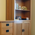 Cherry Mission Bookcase with doors Clear Coat Only Finish 40-4072-13