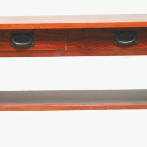 3010 Mission Red Oak 2 drawer coffee table - Early American