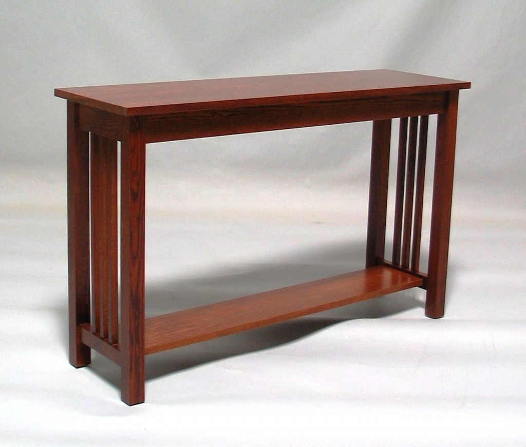 3012 Mission Oak Sofa Table Early American Finish