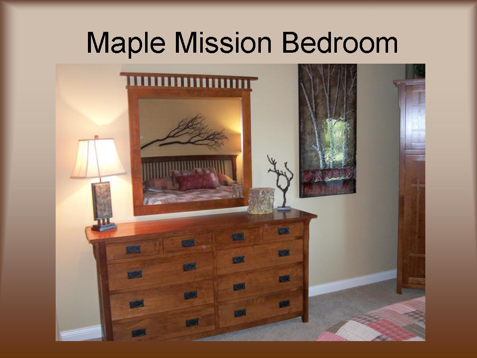 Maple Mission Bedroom Down To Earth Wood