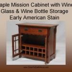 Maple Mission Cabinet with wine storage #20602