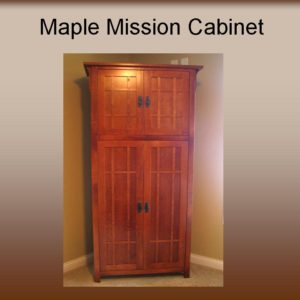 Maple Mission Two Tier Display Cabinet
