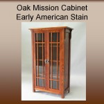 Oak Mission Cabinet w/ Early American Stain