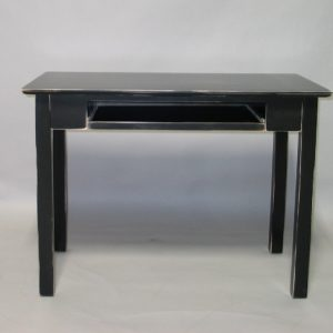21415 Maple Shaker Writing Desk with Pull Out Tray - Distressed Black Finish