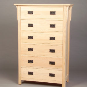 30206 - Oak Mission 6 Drawer Chest - Unfinished