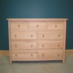 33209 Red Oak Homestead Oak 9 Drawer Dresser - Unfinished