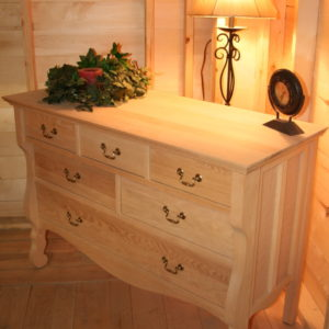 34206 Red Oak Vineyard 6 Drawer Dresser