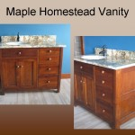 Maple Homestead style bath vanity - Special Walnut stain
