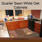Quarter Sawn White Oak Cabinets - Early American Stain - 4